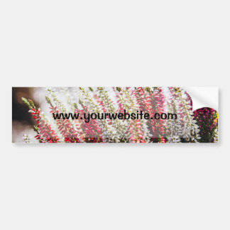 Pink and White Flowers, Bokeh Background Car Bumper Sticker