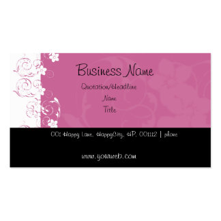 Pink and White Flowers Business Cards