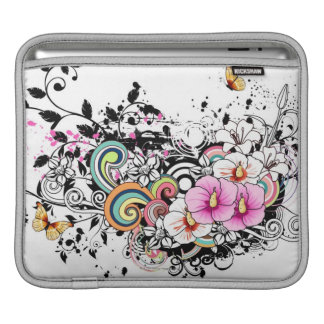 Pink and White Flowers iPad Sleeve