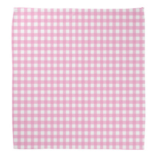 Pink and White Gingham Bandana