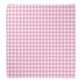 Pink and White Gingham Bandana