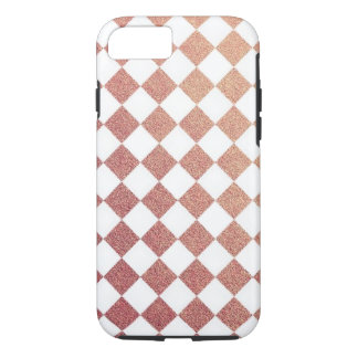 Pink and White Gingham Check iPhone 7 Case