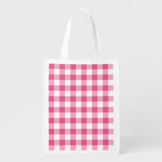 Pink And White Gingham Check Pattern