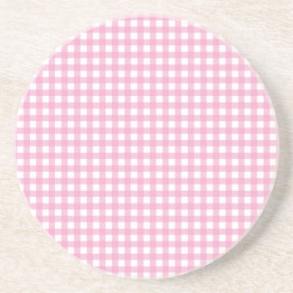 Pink and White Gingham Coaster