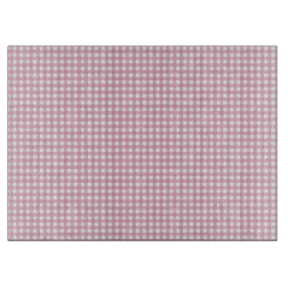 Pink and White Gingham Cutting Board