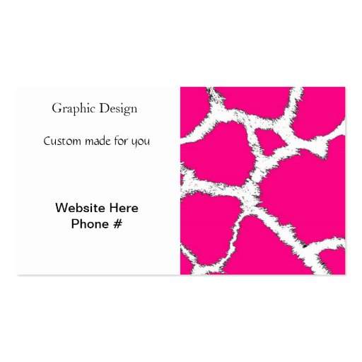 Pink and White Giraffe Pattern Business Cards