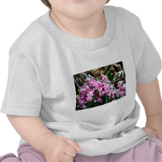 Pink and White Hyacinth Flowers Tees