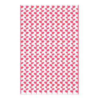 Pink and White Leaf Pattern Customised Stationery