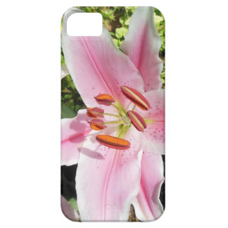Pink and White Lily Flower Barely There iPhone 5 Case