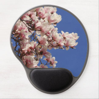 Pink and White Magnolia Gel Mousepad