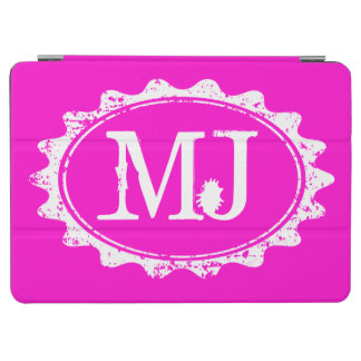 Pink and white monogram magnetic iPad air case iPad Air Cover