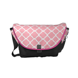 Pink and white Moroccan pattern Courier Bag