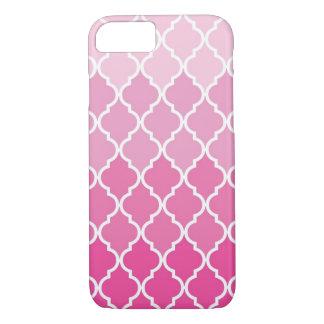 Pink and White Moroccan Quatrefoil Trellis design iPhone 8/7 Case