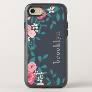 Pink And White Pastel Flowers OtterBox Symmetry iPhone 7 Case