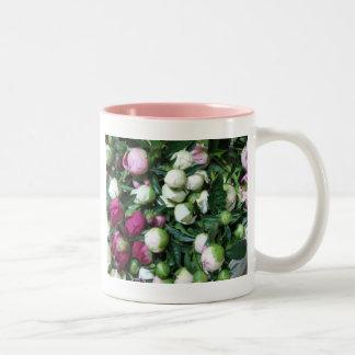 Pink and White Peony Buds Mug