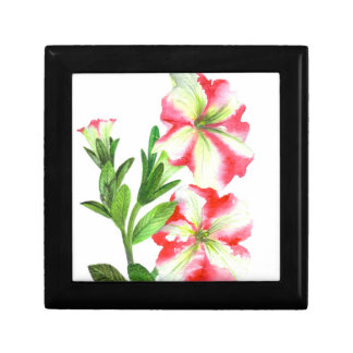 Pink and White Petunias Floral Art Gift Box