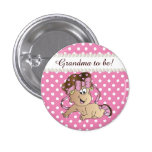 Pink and White Polka Dot | Baby Girl 3 Cm Round Badge