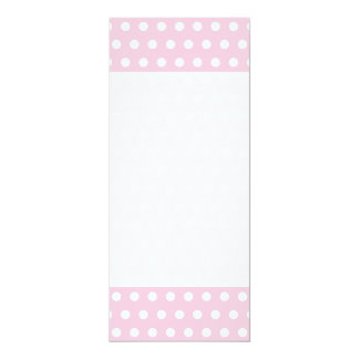 Pink and White Polka Dot Pattern. Spotty. Announcements