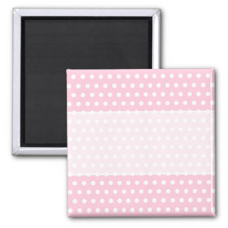 Pink and White Polka Dot Pattern Spotty Magnet