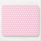 Pink and White Polka Dot Pattern. Spotty. Mouse Mat