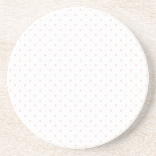 Pink and White Polka Dots Drink Coaster