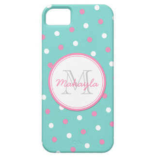 Pink and White Polka Dots iPhone 5 Cases
