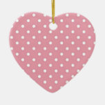 Pink And White Polka Dots Ornament