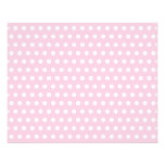 Pink and White Polka Dots Pattern. 11.5 Cm X 14 Cm Flyer