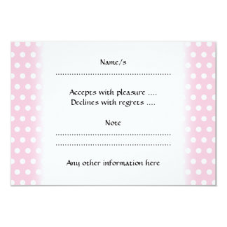 Pink and White Polka Dots Pattern. 9 Cm X 13 Cm Invitation Card