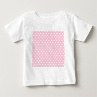 Pink and White Polka Dots Pattern. Baby T-Shirt
