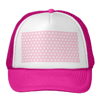 Pink and White Polka Dots Pattern. Cap