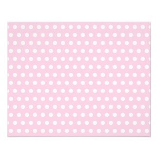 Pink and White Polka Dots Pattern. Flyer