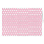Pink and White Polka Dots Pattern. Greeting Cards