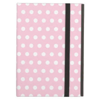 Pink and White Polka Dots Pattern. iPad Air Cover