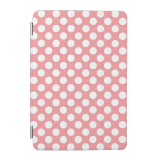 Pink and white polka dots pattern iPad mini cover