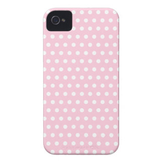 Pink and White Polka Dots Pattern. iPhone 4 Case