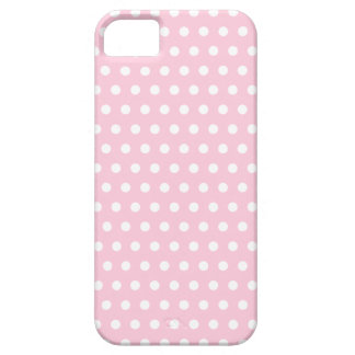Pink and White Polka Dots Pattern. iPhone 5 Cases