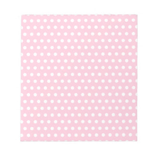Pink and White Polka Dots Pattern. Notepads