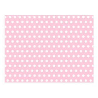 Pink and White Polka Dots Pattern. Postcard