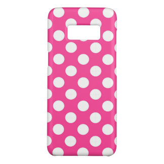 Pink and White Polka Dots Retro Case-Mate Samsung Galaxy S8 Case