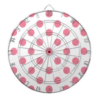 Pink and White Polkadots Dartboard