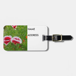 Pink and White Poppies Luggage Tags