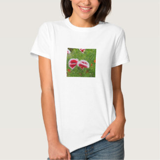 Pink and White Poppies Tee Shirt