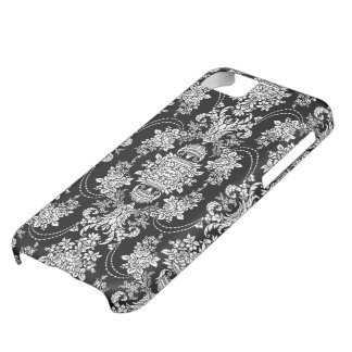 Pink And White Retro Floral Baroque Ornate Design iPhone 5C Case