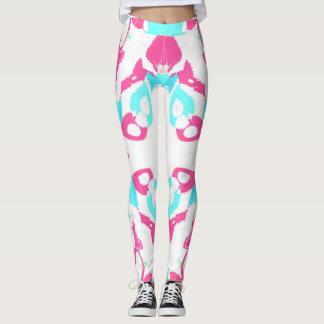 Pink and White Retro Leggings