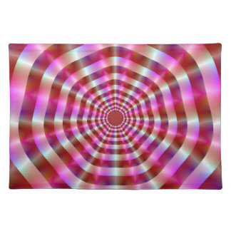 Pink and White Rings American MoJo Placemats