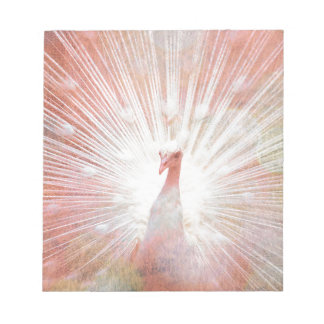 Pink and White Soft Focus Lights Peacock Notepad