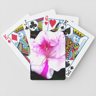 Pink and White Splash Azalea Flower Poker Deck