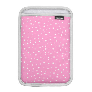 Pink and White Spotted Pattern. iPad Mini Sleeve