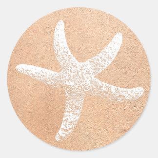 Pink and White Starfish Sticker